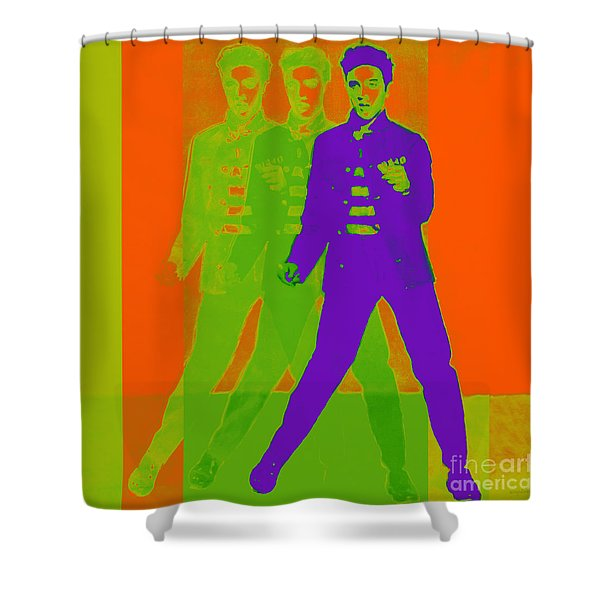 Elvis Jail House Rock 20130215m28 Shower Curtain by Wingsdomain Art and Photography