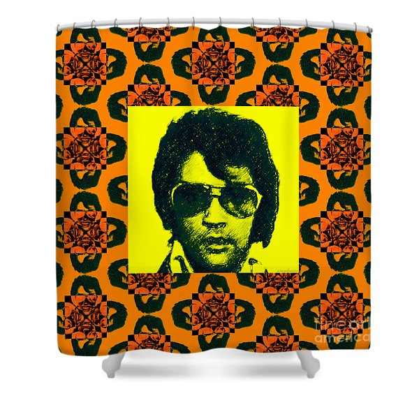 Elvis Presley Window P0 Shower Curtain by Wingsdomain Art and Photography