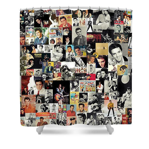 Elvis The King Shower Curtain by Taylan Soyturk