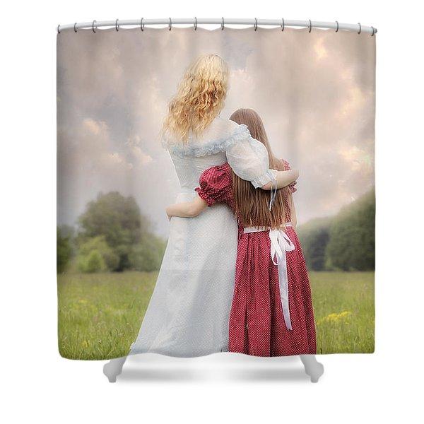 embrace Shower Curtain by Joana Kruse