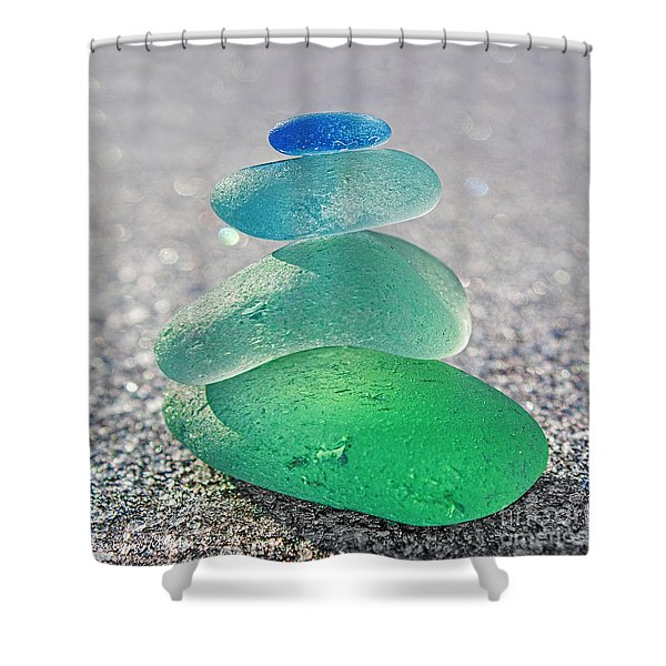 Emerald Light Shower Curtain by Barbara McMahon