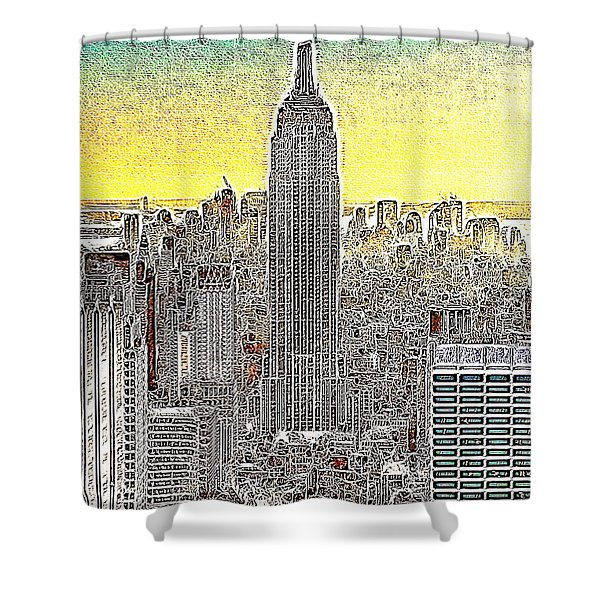 Empire State Building New York City 20130425 Shower Curtain by Wingsdomain Art and Photography