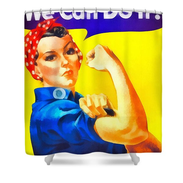 Empowerment Shower Curtain by Dan Sproul