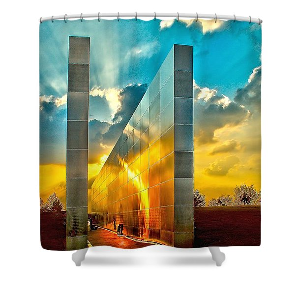 Empty Skies Sunset Shower Curtain by Nick Zelinsky