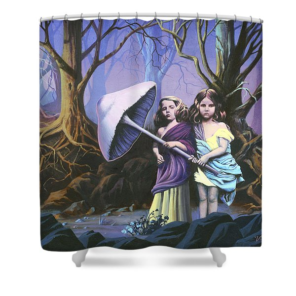 Enchanted Forest Shower Curtain by Vivien Rhyan