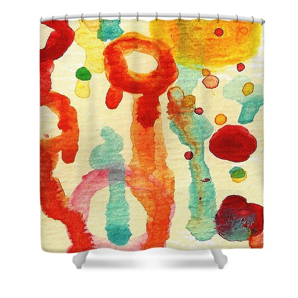 Encounters 1 Shower Curtain by Amy Vangsgard