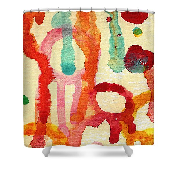 Encounters 5 Shower Curtain by Amy Vangsgard