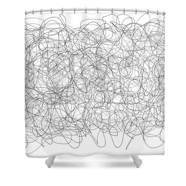 Energy Vortex Shower Curtain by Daina White