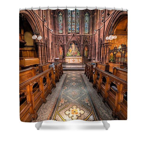 English Church 2 Shower Curtain by Adrian Evans
