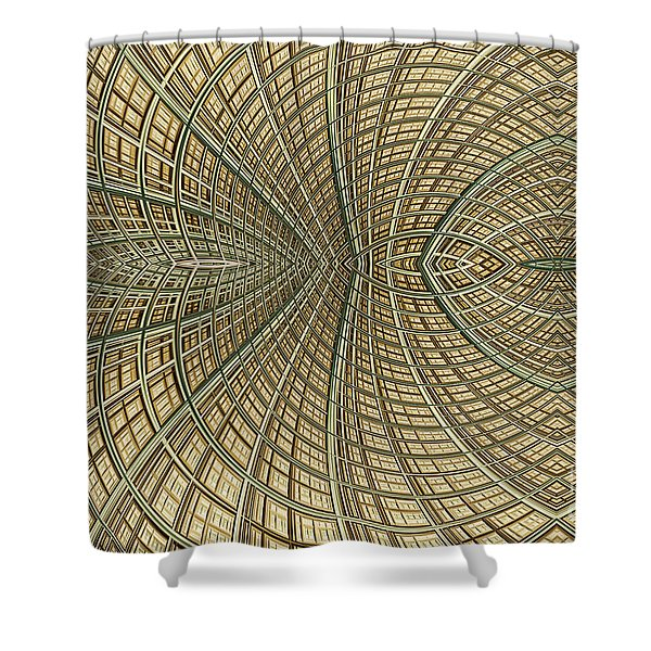 Enmeshed Shower Curtain by John Edwards