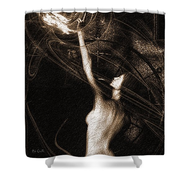 Entities Touch Shower Curtain by Bob Orsillo