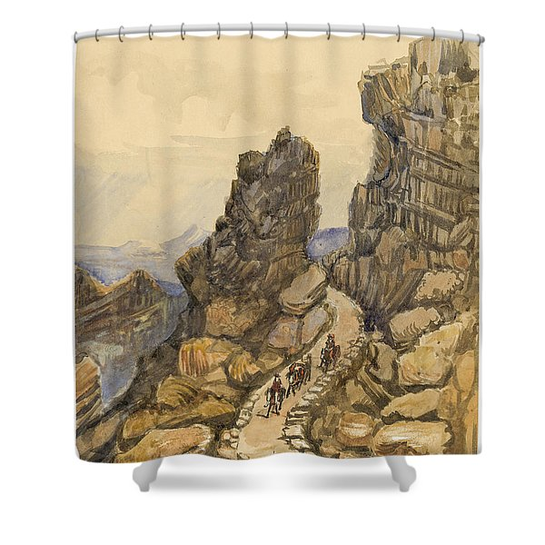 Entrance to the Almanna Gau Circa 1862 Shower Curtain by Aged Pixel