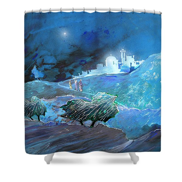 Epiphany Shower Curtain by Miki De Goodaboom