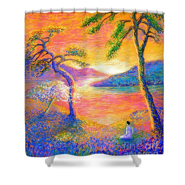 Divine Light Shower Curtain by Jane Small