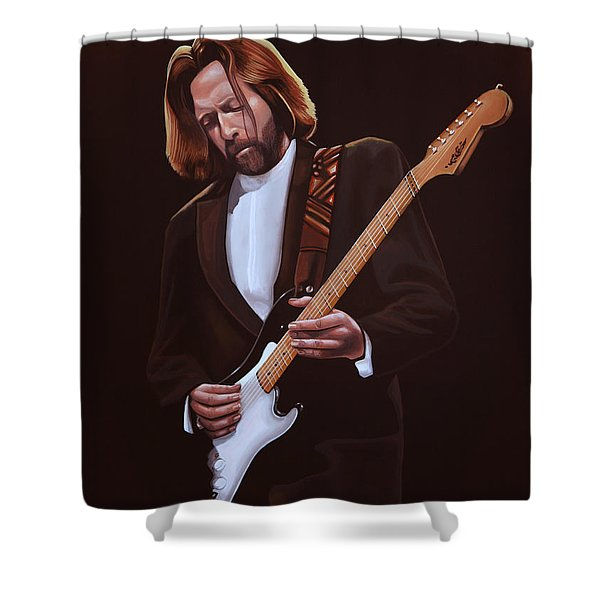 Eric Clapton Shower Curtain by Paul  Meijering