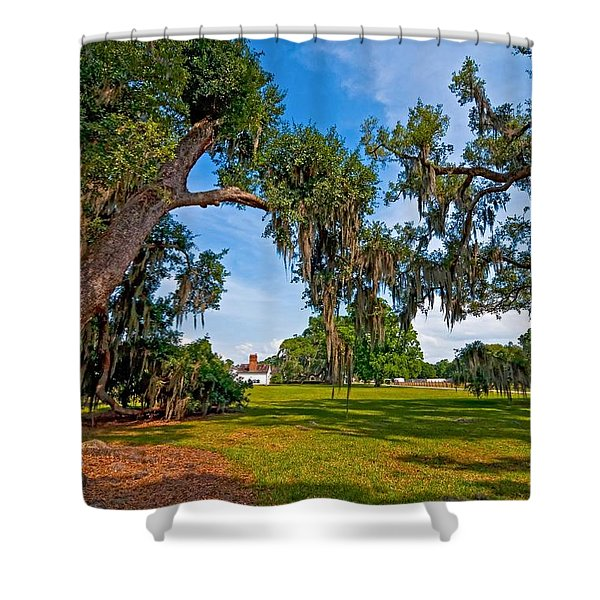 Evergreen Plantation II Shower Curtain by Steve Harrington