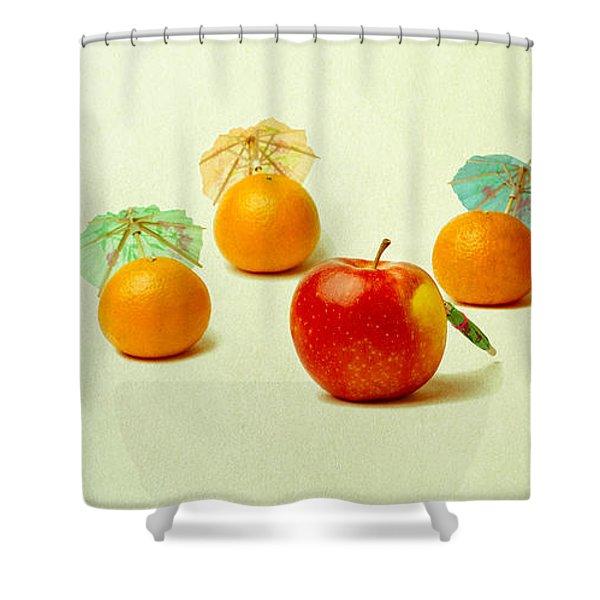 Exotic Fruit Shower Curtain by Alexander Senin