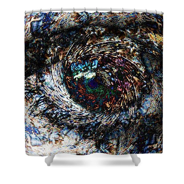 Eye Of A Hurricane Called You Shower Curtain by Elizabeth McTaggart