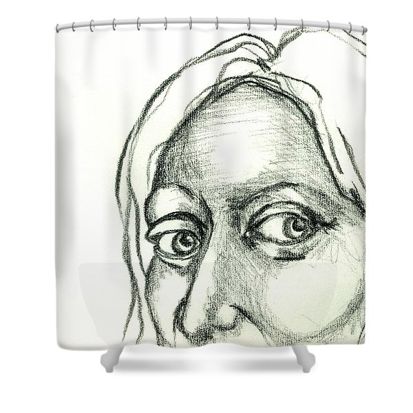 Eyes - The Sketchbook Series Shower Curtain by Michelle Calkins