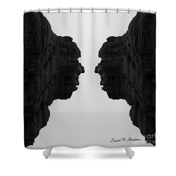 Face To Face Montage II Shower Curtain by Dave Gordon