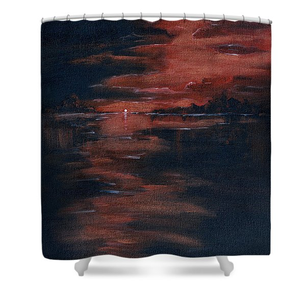 Fading Light Shower Curtain by Donna Blackhall