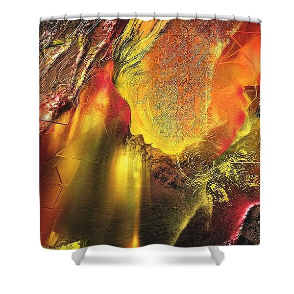 Faille Shower Curtain by Francoise Dugourd-Caput