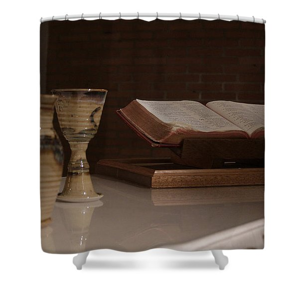 Faith Shower Curtain by Shoal Hollingsworth