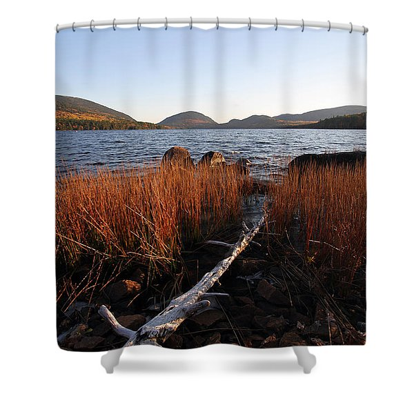 Fall Colors at Eagle Lake in Maine Shower Curtain by Juergen Roth