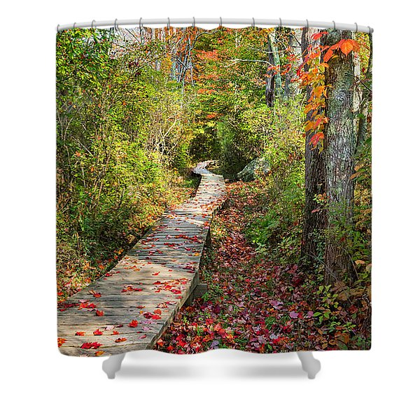 Fall Morning Shower Curtain by Bill  Wakeley