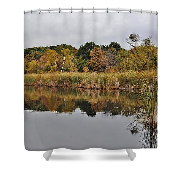 Fall Reflections 2 Shower Curtain by Todd and candice Dailey