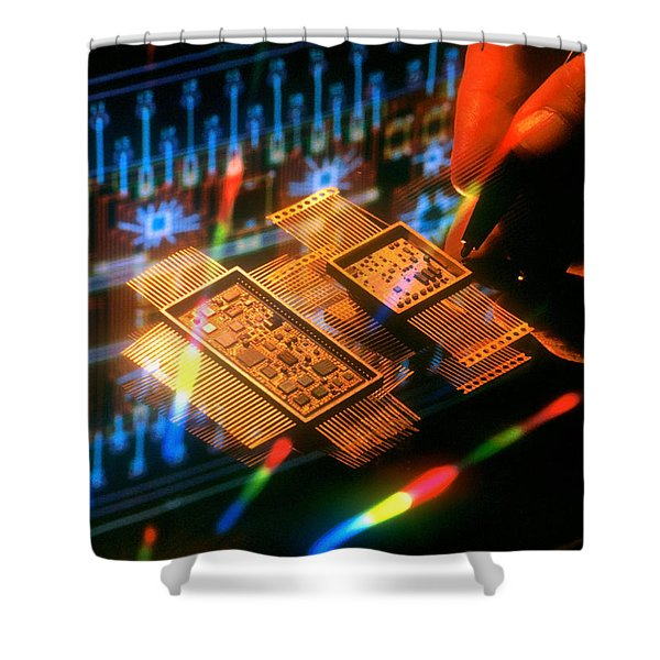 Fancy Design Shower Curtain by Jerry McElroy