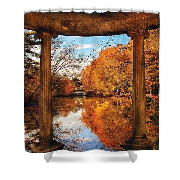 Fantasy - Paradise Waits Shower Curtain by Mike Savad