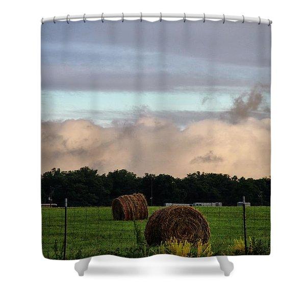 Farm Field Drama Shower Curtain by Dan Sproul