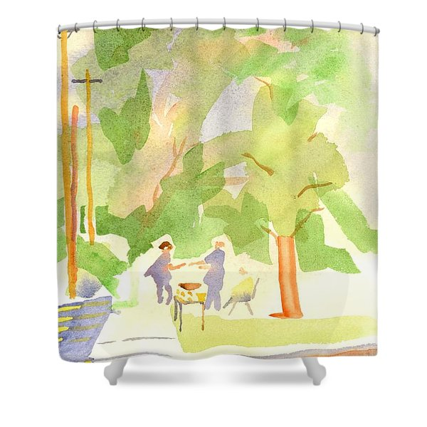 Farmers Market Vll Shower Curtain by Kip DeVore