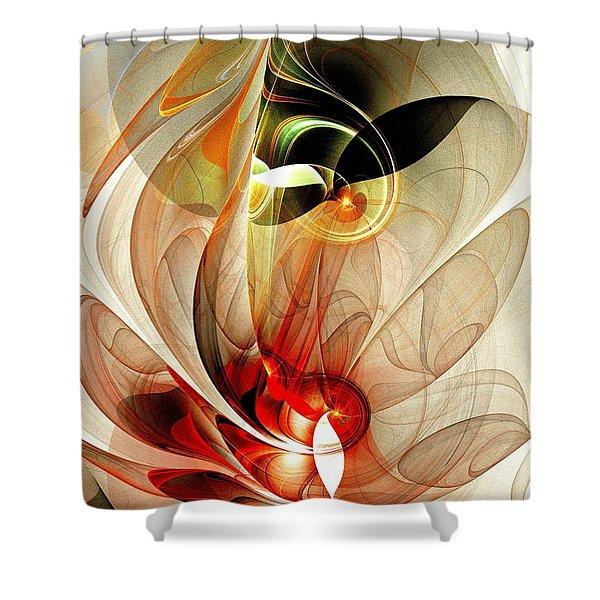 Fascinated Shower Curtain by Anastasiya Malakhova