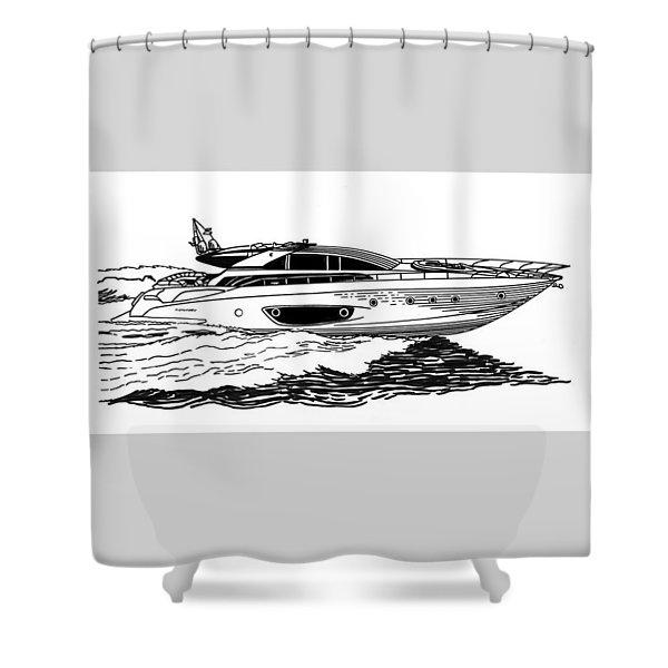 Fast Riva Motoryacht Shower Curtain by Jack Pumphrey