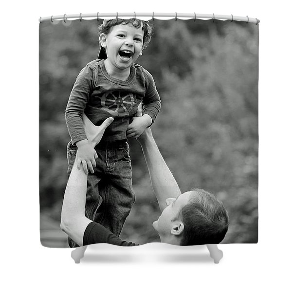 Father and Son III Shower Curtain by Lisa  Phillips
