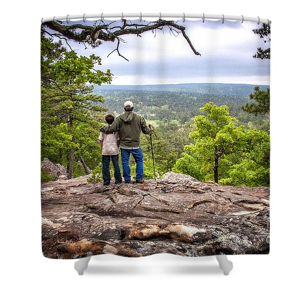 Father And Son Shower Curtain by Tamyra Ayles