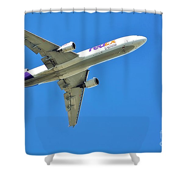 Fedex At Work Shower Curtain by Kaye Menner