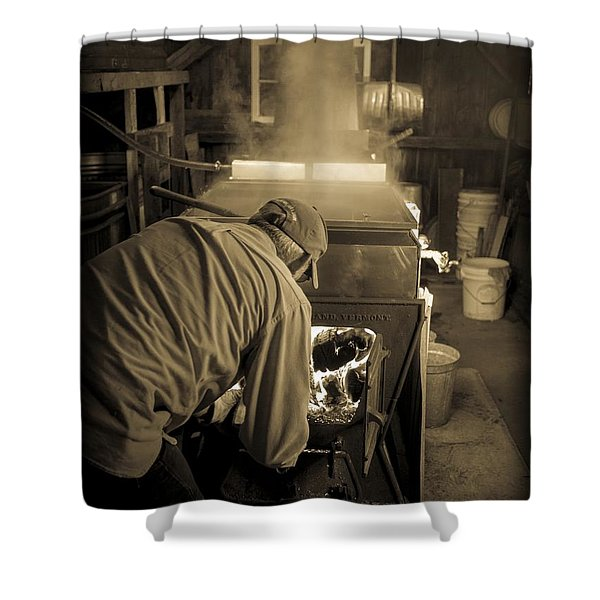 Feeding the Beast Shower Curtain by Edward Fielding