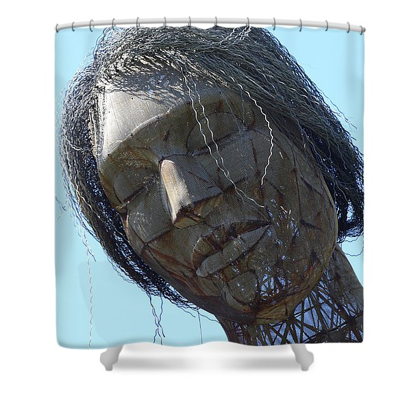 Female Sculpture On San Francisco Treasure Island 7D25445 Shower Curtain by Wingsdomain Art and Photography