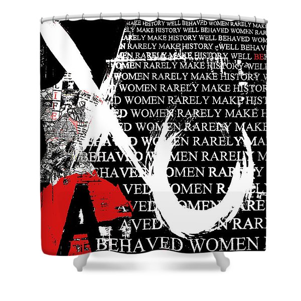 Feminist Hugs and Kisses Shower Curtain by Anahi DeCanio