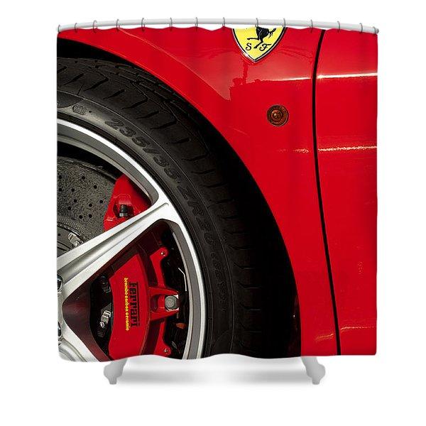 Ferrari Emblem 3 Shower Curtain by Jill Reger