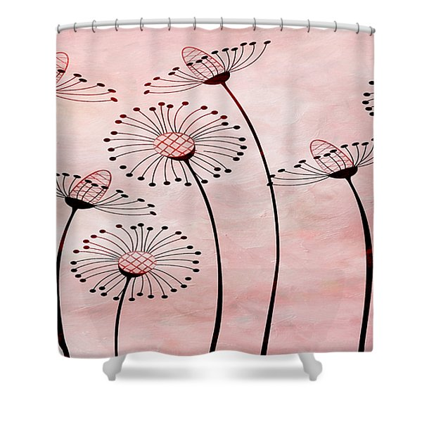 Field Of Flowers Within 3 Shower Curtain by Angelina Vick