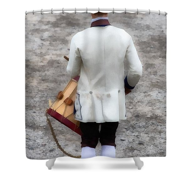 Fife and Drum Shower Curtain by Edward Fielding