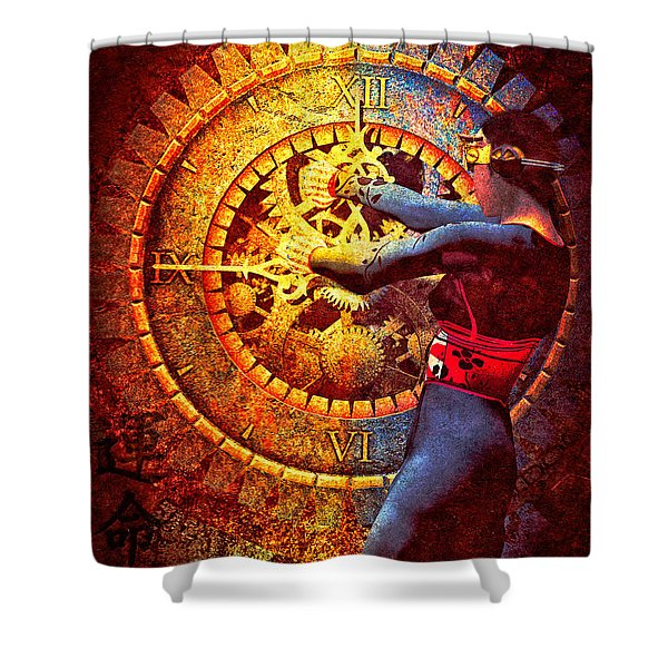 Fifteen Minutes Shower Curtain by Bob Orsillo