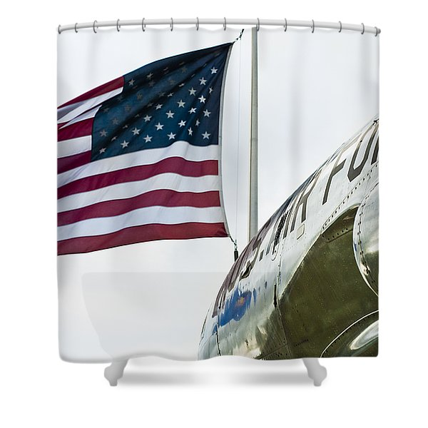 Fighting Flyers Shower Curtain by Christi Kraft