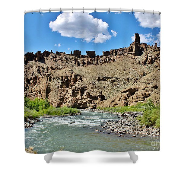 Fire And Ice Cathedral Holy City Shower Curtain by Janice Rae Pariza