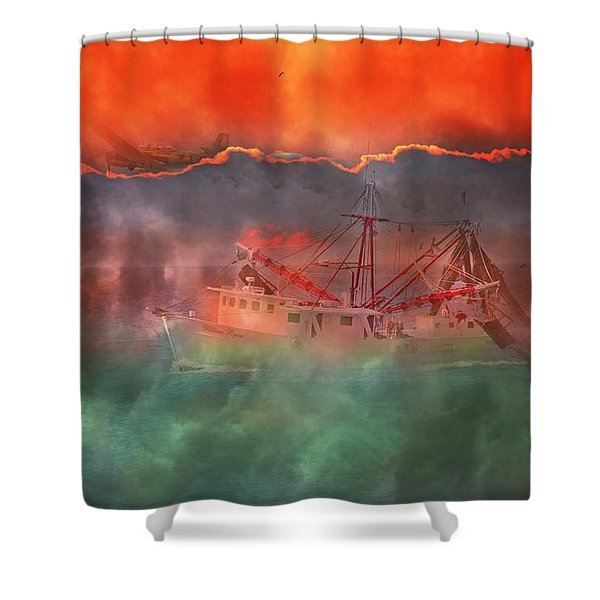 Fire And Ice Misty Morning Shower Curtain by Betsy C  Knapp