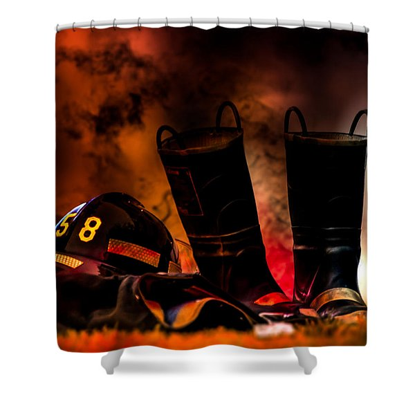 Firefighter Shower Curtain by Bob Orsillo